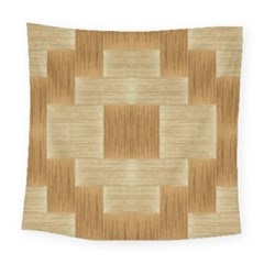 Texture Surface Beige Brown Tan Square Tapestry (large)