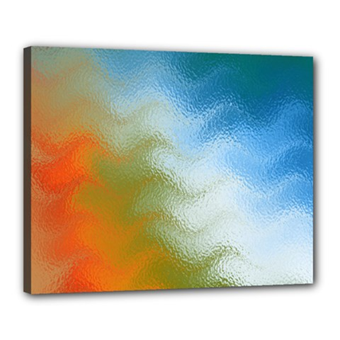 Texture Glass Colors Rainbow Canvas 20  X 16  by Nexatart