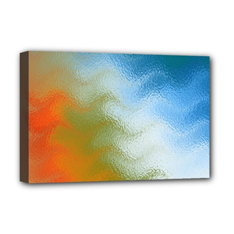 Texture Glass Colors Rainbow Deluxe Canvas 18  X 12   by Nexatart