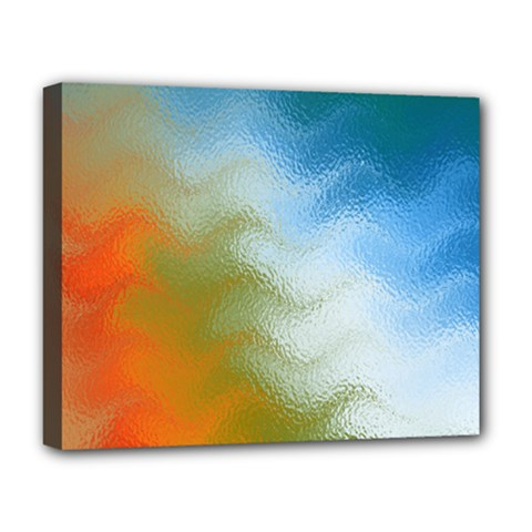 Texture Glass Colors Rainbow Deluxe Canvas 20  X 16