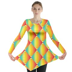 The Colors Of Summer Long Sleeve Tunic  by Nexatart