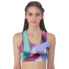 Texture Pattern Abstract Background Sports Bra