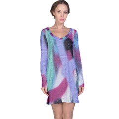 Texture Pattern Abstract Background Long Sleeve Nightdress