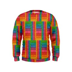 Texture Surface Rainbow Festive Kids  Sweatshirt