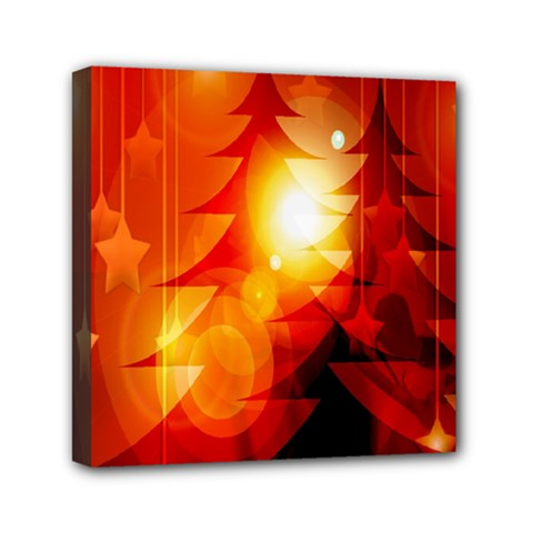 Tree Trees Silhouettes Silhouette Mini Canvas 6  X 6