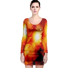 Tree Trees Silhouettes Silhouette Long Sleeve Bodycon Dress