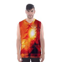Tree Trees Silhouettes Silhouette Men s Basketball Tank Top