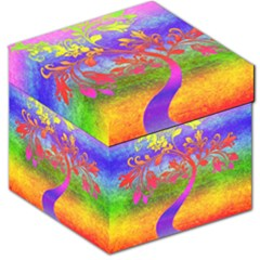Tree Colorful Mystical Autumn Storage Stool 12   by Nexatart