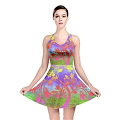 Tree Colorful Mystical Autumn Reversible Skater Dress