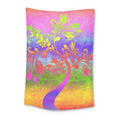 Tree Colorful Mystical Autumn Small Tapestry by Nexatart