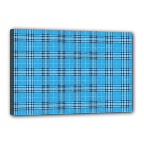 The Checkered Tablecloth Canvas 18  X 12  by Nexatart