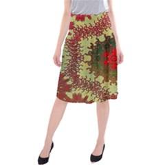 Tile Background Image Color Pattern Midi Beach Skirt