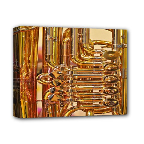 Tuba Valves Pipe Shiny Instrument Music Deluxe Canvas 14  X 11  by Nexatart