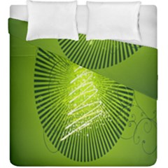 Vector Chirstmas Tree Design Duvet Cover Double Side (king Size)