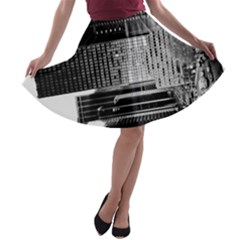 Urban Scene Street Road Busy Cars A-line Skater Skirt by Nexatart