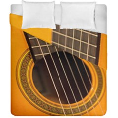 Vintage Guitar Acustic Duvet Cover Double Side (california King Size) by Nexatart