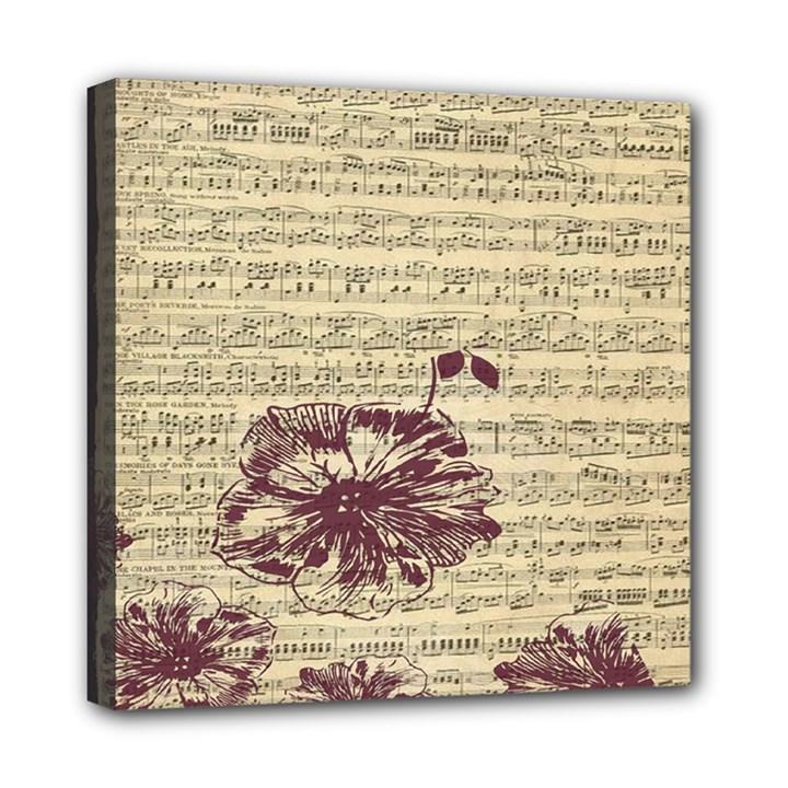Vintage Music Sheet Song Musical Mini Canvas 8  x 8
