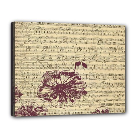 Vintage Music Sheet Song Musical Canvas 14  X 11  by Nexatart