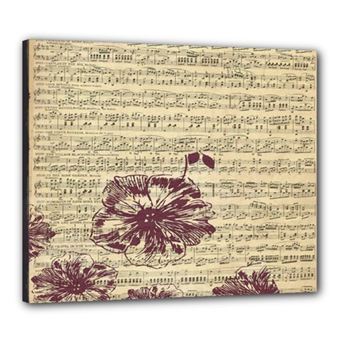 Vintage Music Sheet Song Musical Canvas 24  X 20  by Nexatart