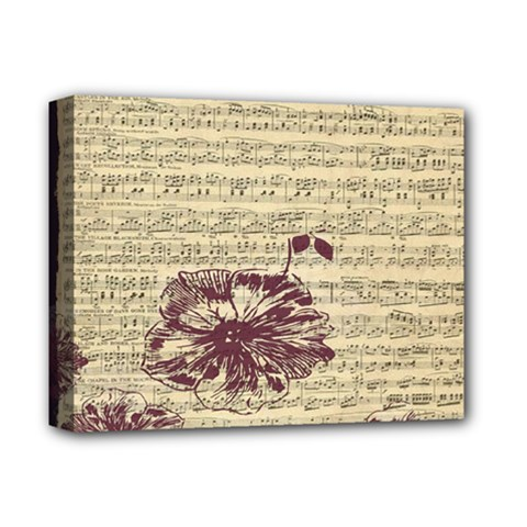 Vintage Music Sheet Song Musical Deluxe Canvas 14  X 11  by Nexatart
