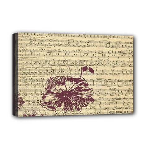 Vintage Music Sheet Song Musical Deluxe Canvas 18  X 12   by Nexatart