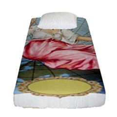 Vintage Art Collage Lady Fabrics Fitted Sheet (Single Size)