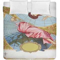 Vintage Art Collage Lady Fabrics Duvet Cover Double Side (King Size)
