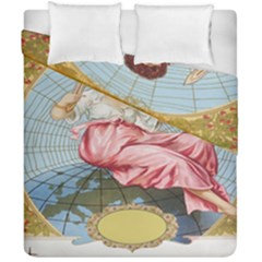 Vintage Art Collage Lady Fabrics Duvet Cover Double Side (California King Size)