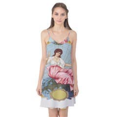 Vintage Art Collage Lady Fabrics Camis Nightgown