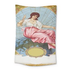 Vintage Art Collage Lady Fabrics Small Tapestry