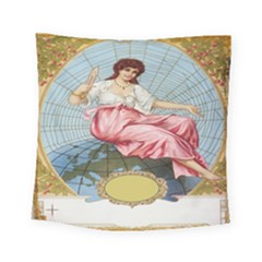 Vintage Art Collage Lady Fabrics Square Tapestry (Small)