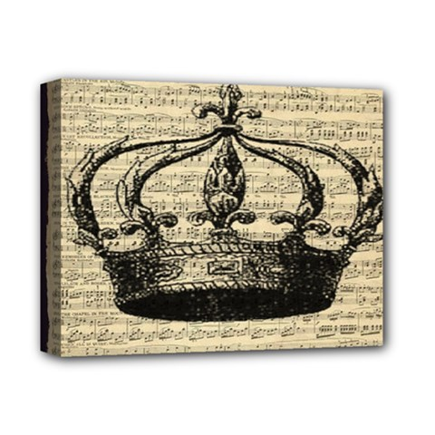 Vintage Music Sheet Crown Song Deluxe Canvas 14  X 11  by Nexatart