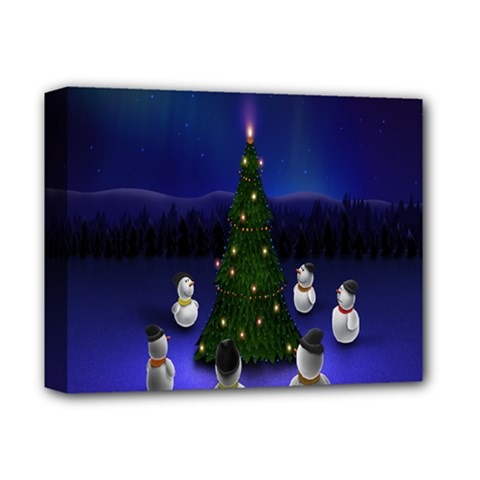 Waiting For The Xmas Christmas Deluxe Canvas 14  X 11  by Nexatart
