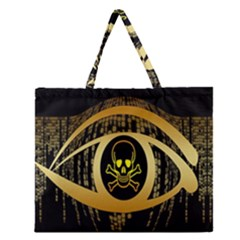 Virus Computer Encryption Trojan Zipper Large Tote Bag by Nexatart