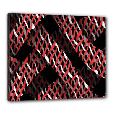 Weave And Knit Pattern Seamless Canvas 24  X 20
