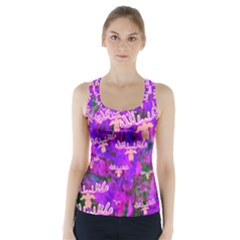 Watercolour Paint Dripping Ink Racer Back Sports Top