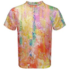 Watercolour Watercolor Paint Ink Men s Cotton Tee by Nexatart