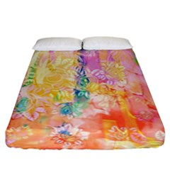 Watercolour Watercolor Paint Ink Fitted Sheet (king Size) by Nexatart