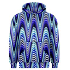 Waves Wavy Blue Pale Cobalt Navy Men s Zipper Hoodie