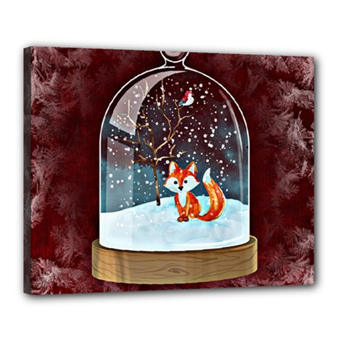 Winter Snow Ball Snow Cold Fun Canvas 20  X 16