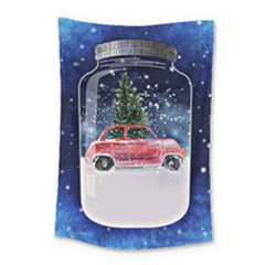 Winter Snow Ball Snow Cold Fun Small Tapestry by Nexatart
