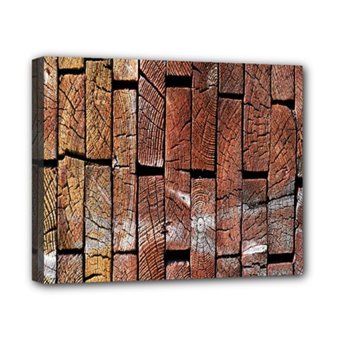 Wood Logs Wooden Background Canvas 10  X 8  by Nexatart