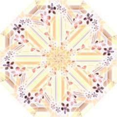 Swirl Flower Curlicue Greeting Card Straight Umbrellas by Nexatart