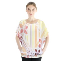Swirl Flower Curlicue Greeting Card Blouse by Nexatart