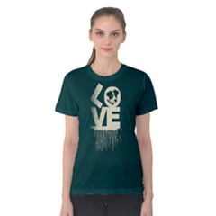 Love Dog   Women s Cotton Tee by FunnySaying