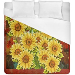 Sunflowers Flowers Abstract Duvet Cover (king Size) by Nexatart