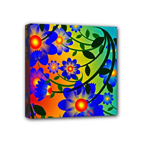 Abstract Background Backdrop Design Mini Canvas 4  X 4  by Amaryn4rt