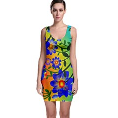Abstract Background Backdrop Design Sleeveless Bodycon Dress