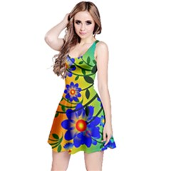 Abstract Background Backdrop Design Reversible Sleeveless Dress by Amaryn4rt