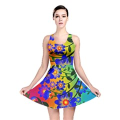 Abstract Background Backdrop Design Reversible Skater Dress by Amaryn4rt